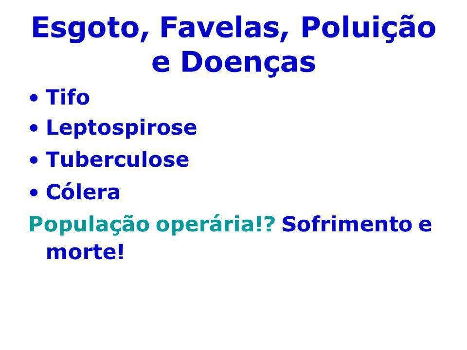 Esgoto, Favelas, Poluição e Doenças