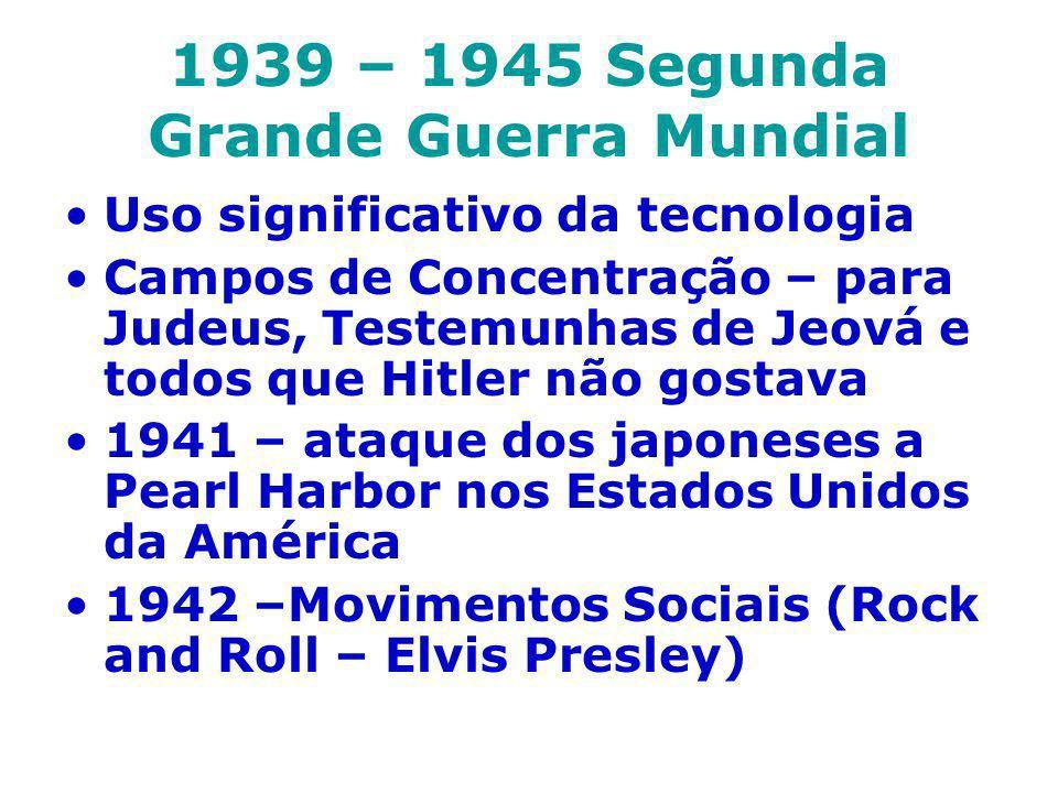 1939 – 1945 Segunda Grande Guerra Mundial