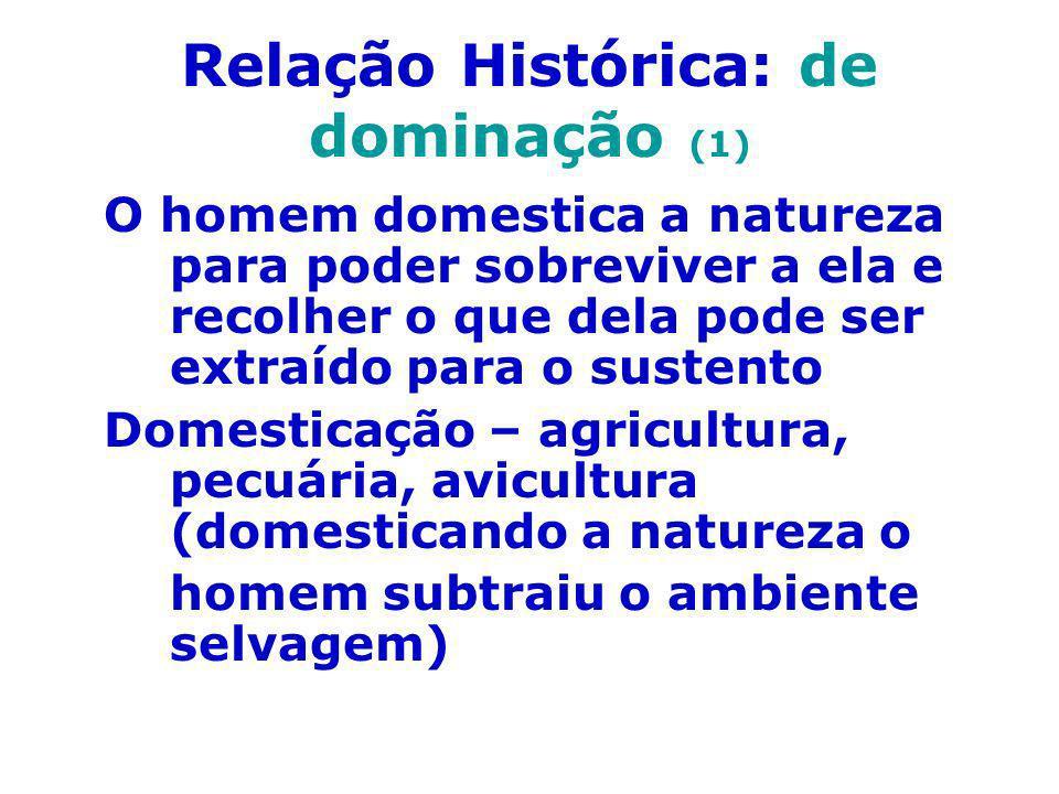 Relação Histórica: de dominação (1)