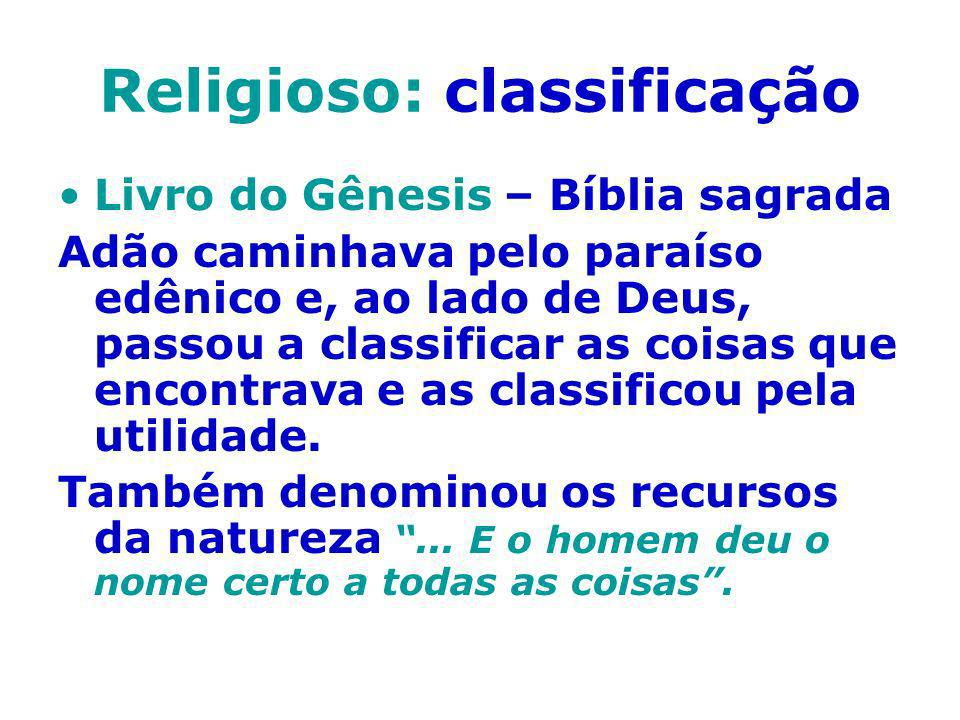 Religioso: classificação