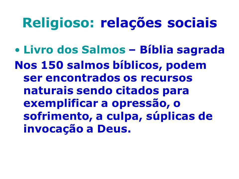 Religioso: relações sociais