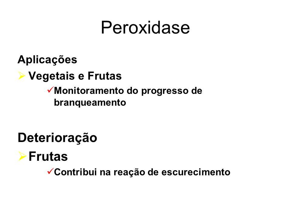 Peroxidase Deterioração Frutas Aplicações Vegetais e Frutas