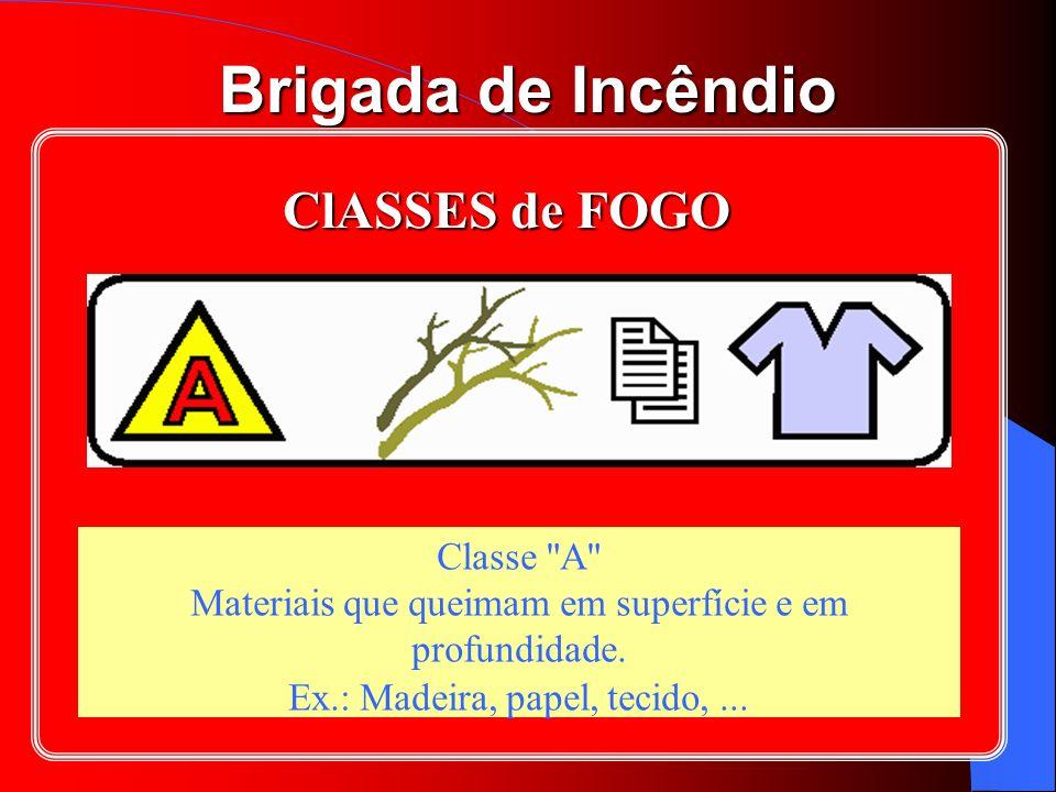 ClASSES de FOGO Classe A