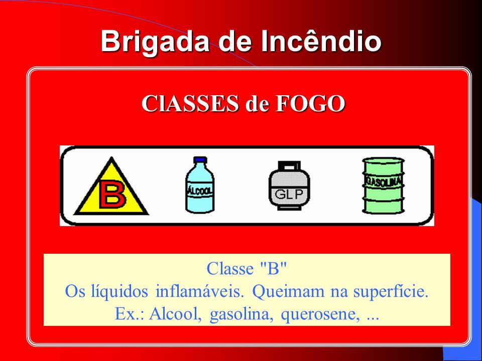 ClASSES de FOGO Classe B