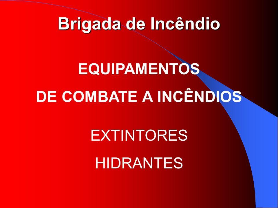EQUIPAMENTOS DE COMBATE A INCÊNDIOS EXTINTORES HIDRANTES