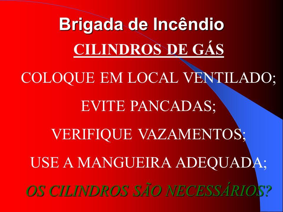 COLOQUE EM LOCAL VENTILADO; EVITE PANCADAS; VERIFIQUE VAZAMENTOS;
