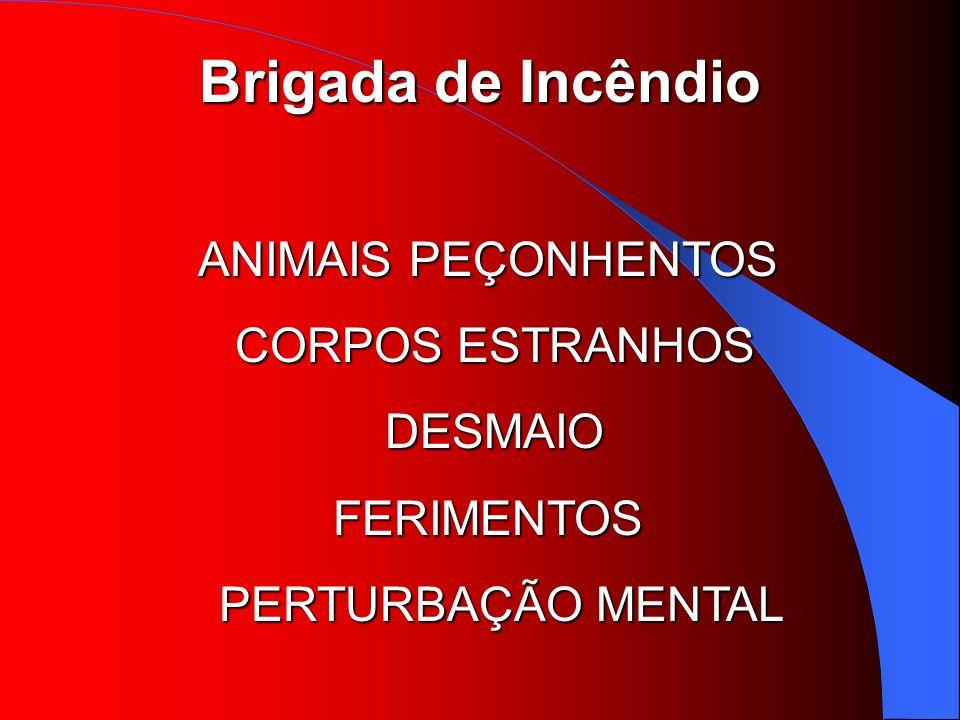 ANIMAIS PEÇONHENTOS CORPOS ESTRANHOS DESMAIO FERIMENTOS PERTURBAÇÃO MENTAL