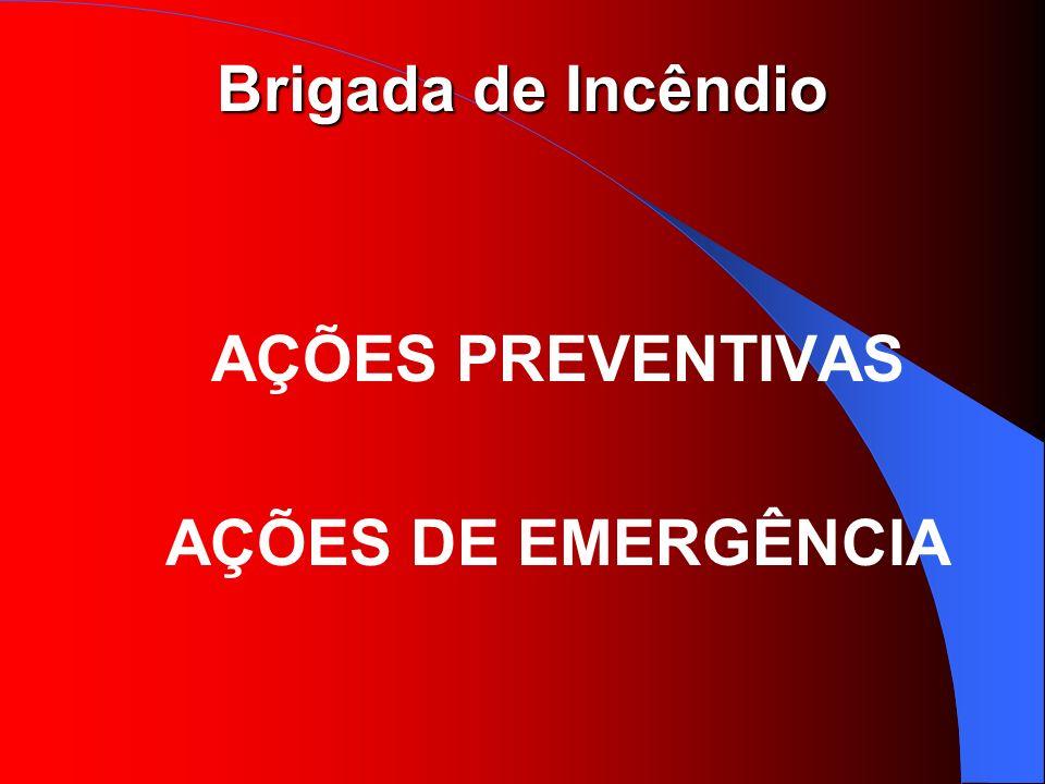 AÇÕES PREVENTIVAS AÇÕES DE EMERGÊNCIA