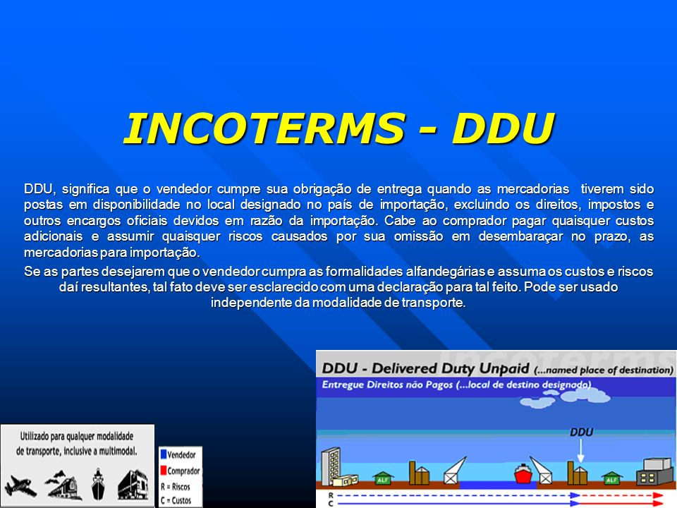 INCOTERMS - DDU