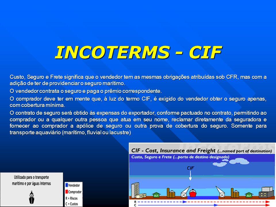 INCOTERMS - CIF