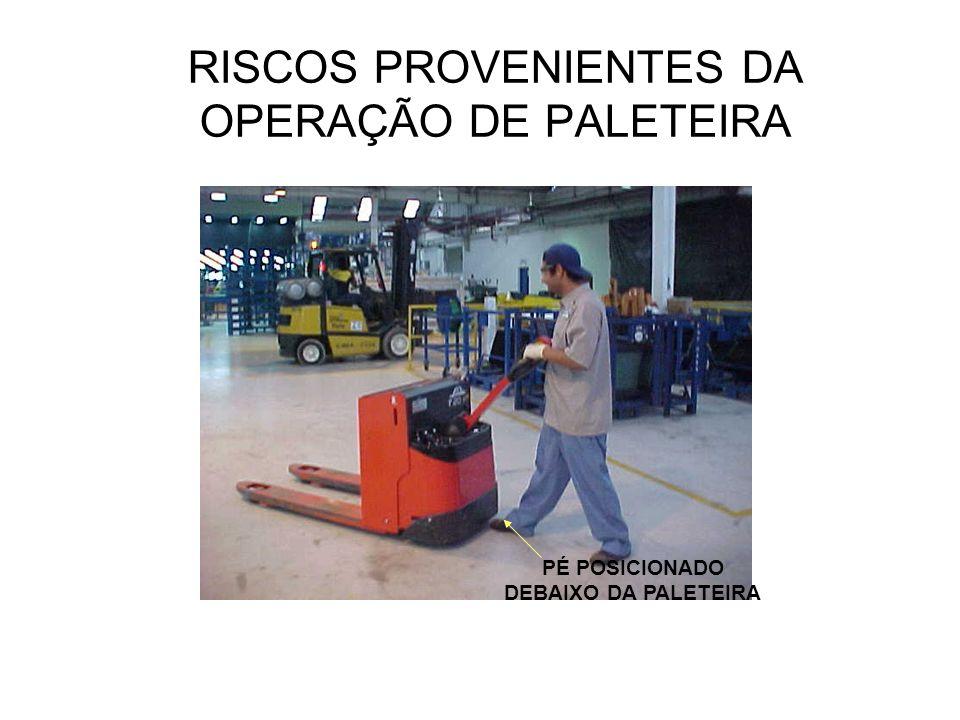 RISCOS PROVENIENTES DA OPERAÇÃO DE PALETEIRA