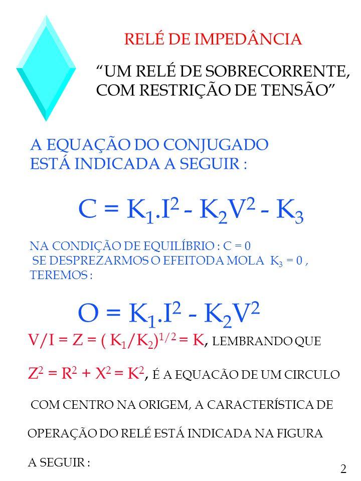 UM RELÉ DE SOBRECORRENTE, COM RESTRIÇÃO DE TENSÃO
