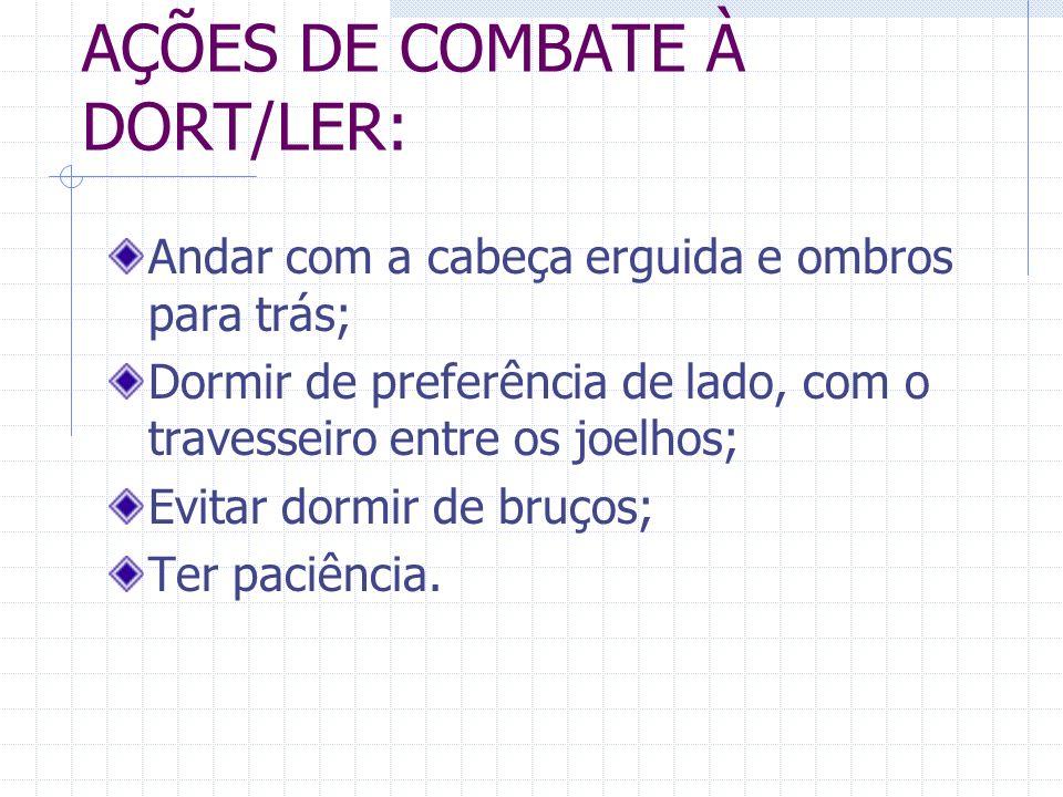 AÇÕES DE COMBATE À DORT/LER: