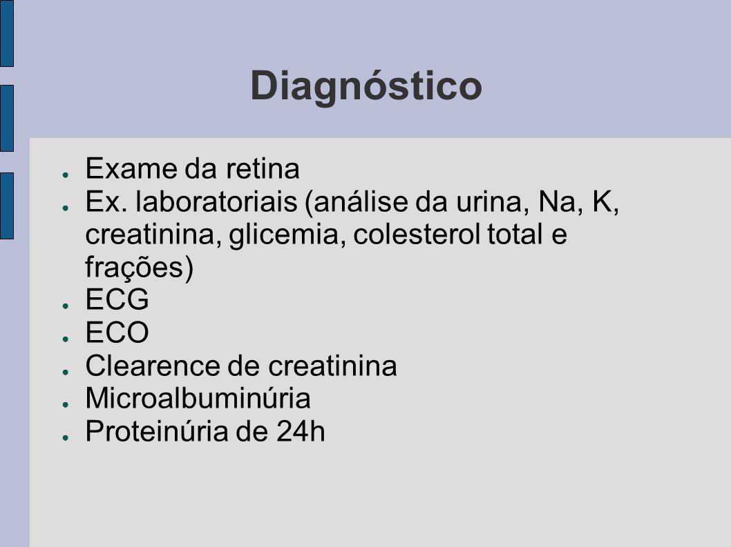 Diagnóstico Exame da retina