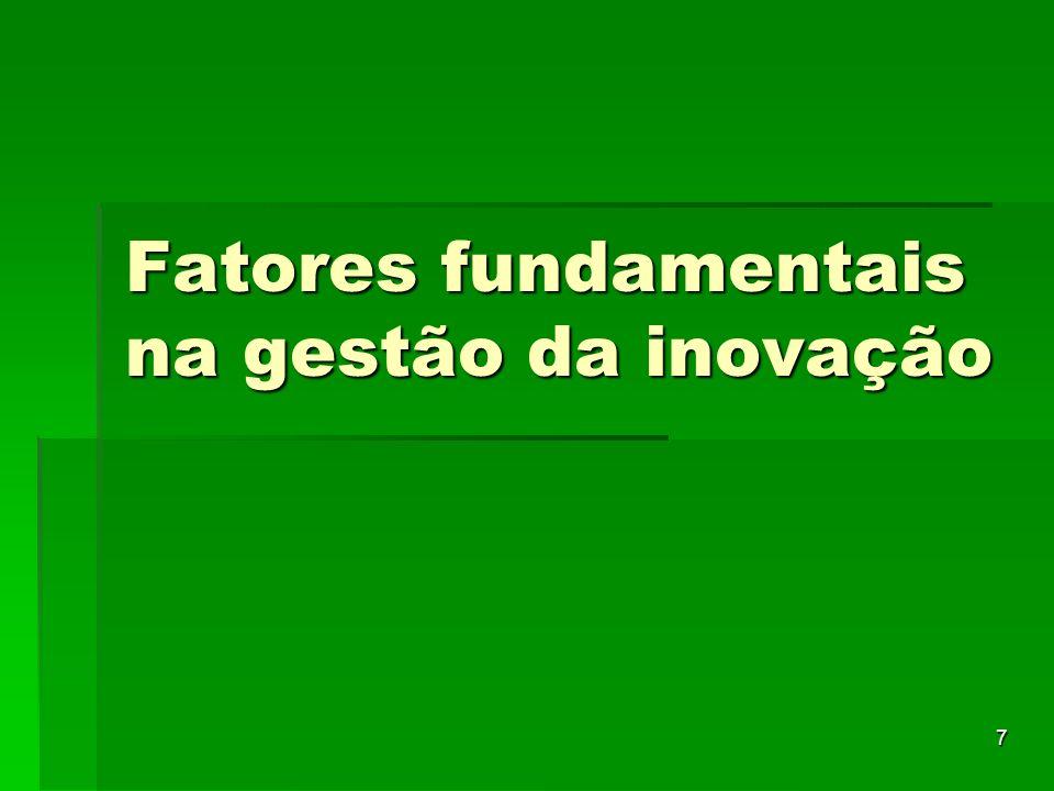 Fatores fundamentais na gestão da inovação