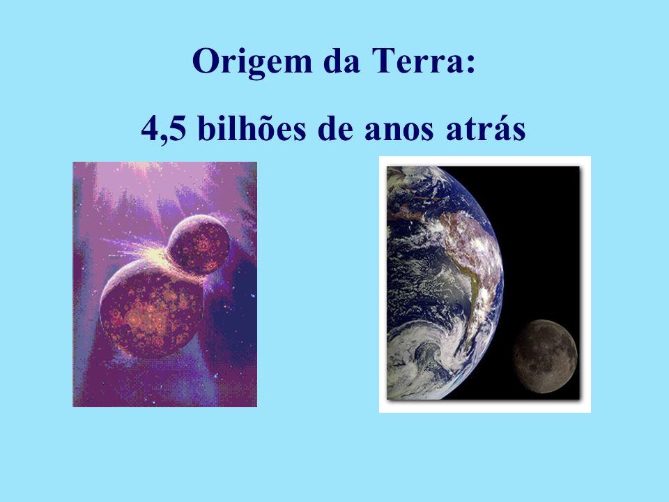Origem da Terra: 4,5 bilhões de anos atrás