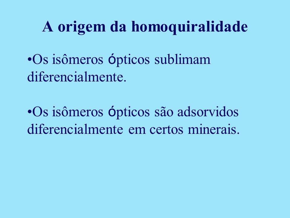 A origem da homoquiralidade