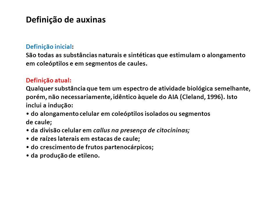Definição de auxinas Definição inicial: