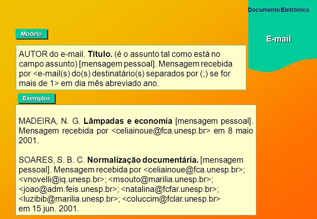 Documento EletrônicoE-mail. Modelo.