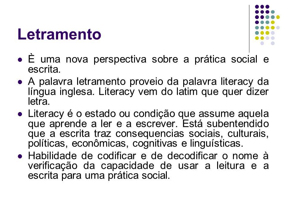 Letramento È uma nova perspectiva sobre a prática social e escrita.