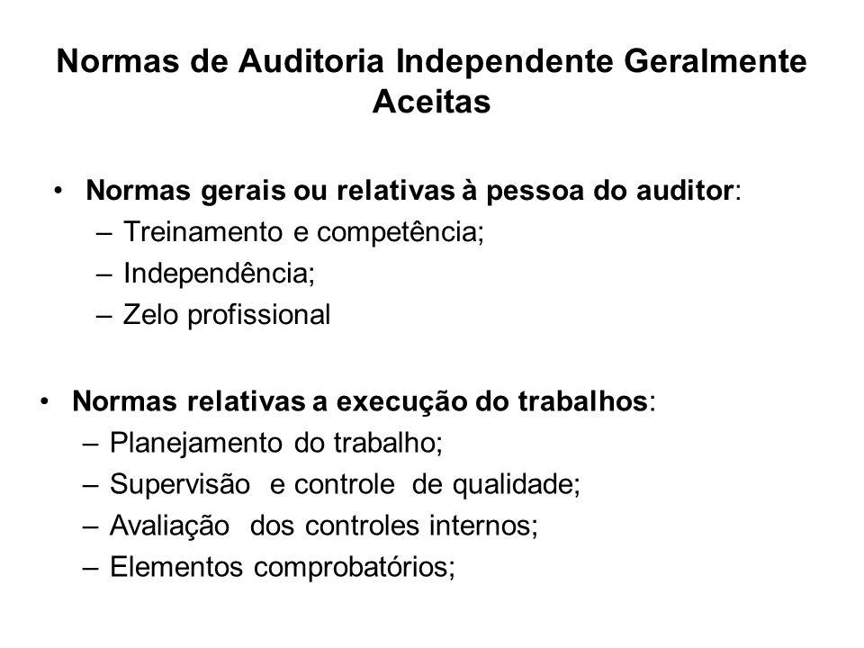 Normas de Auditoria Independente Geralmente Aceitas
