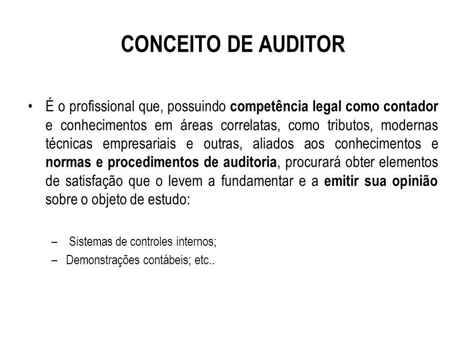 CONCEITO DE AUDITOR