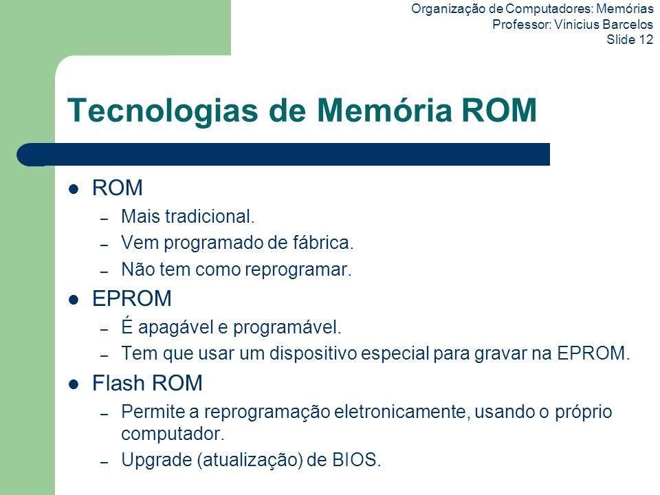Tecnologias de Memória ROM