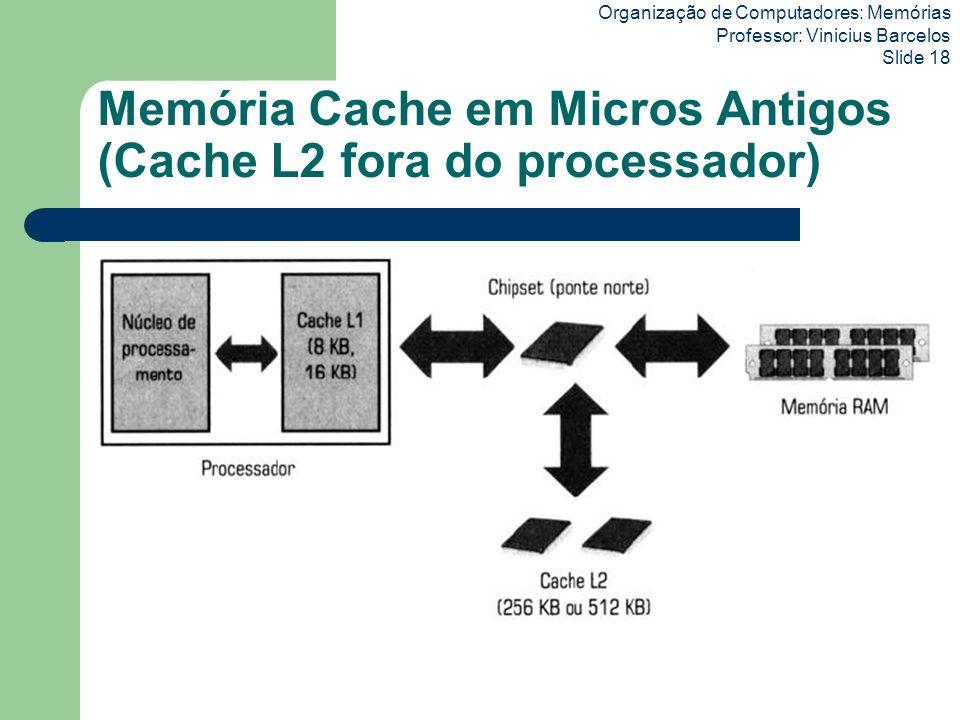 Memória Cache em Micros Antigos (Cache L2 fora do processador)