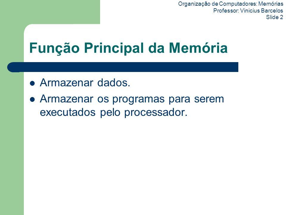 Função Principal da Memória