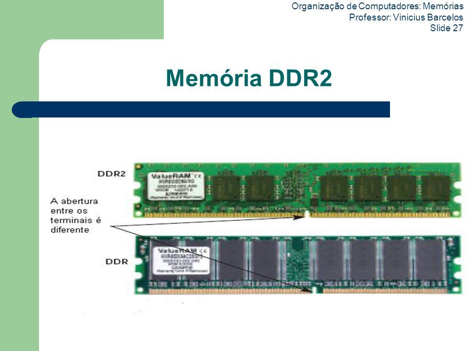 Memória DDR2 Organização de Computadores: Memórias