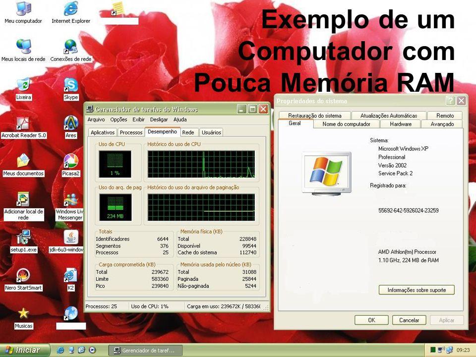 Exemplo de um Computador com Pouca Memória RAM