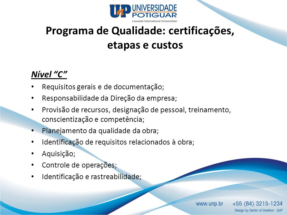 Programa de Qualidade: certificações, etapas e custos