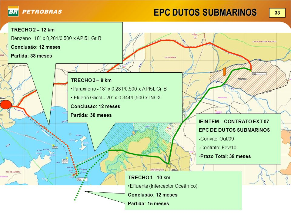 EPC DUTOS SUBMARINOS 33 TRECHO 2 – 12 km