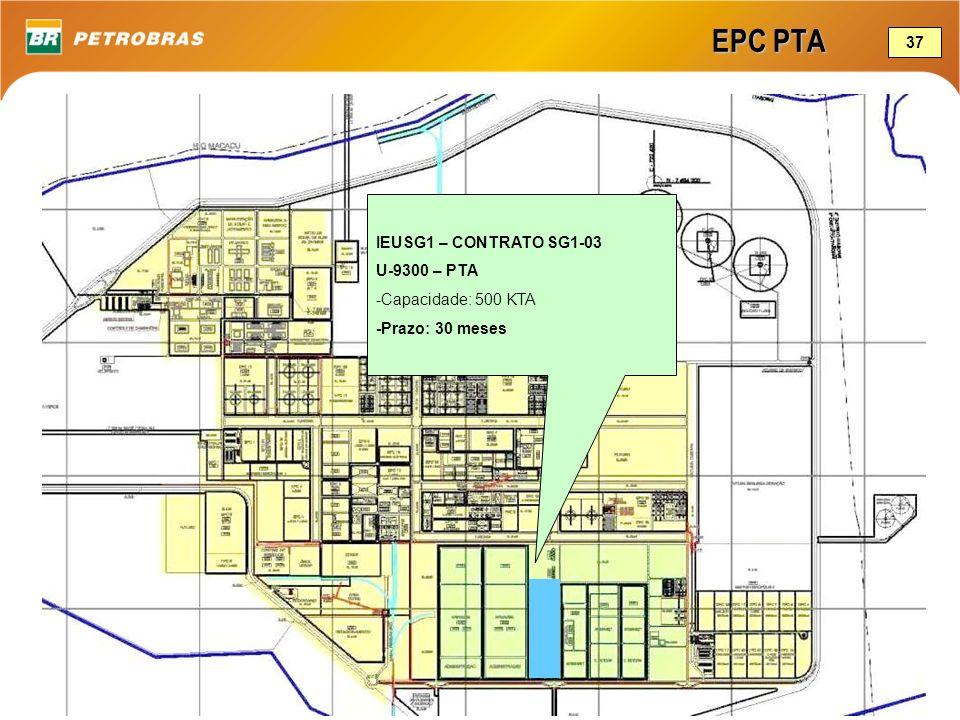 EPC PTA 37 IEUSG1 – CONTRATO SG1-03 U-9300 – PTA -Capacidade: 500 KTA