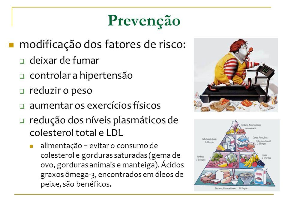 Prevenção modificação dos fatores de risco: deixar de fumar