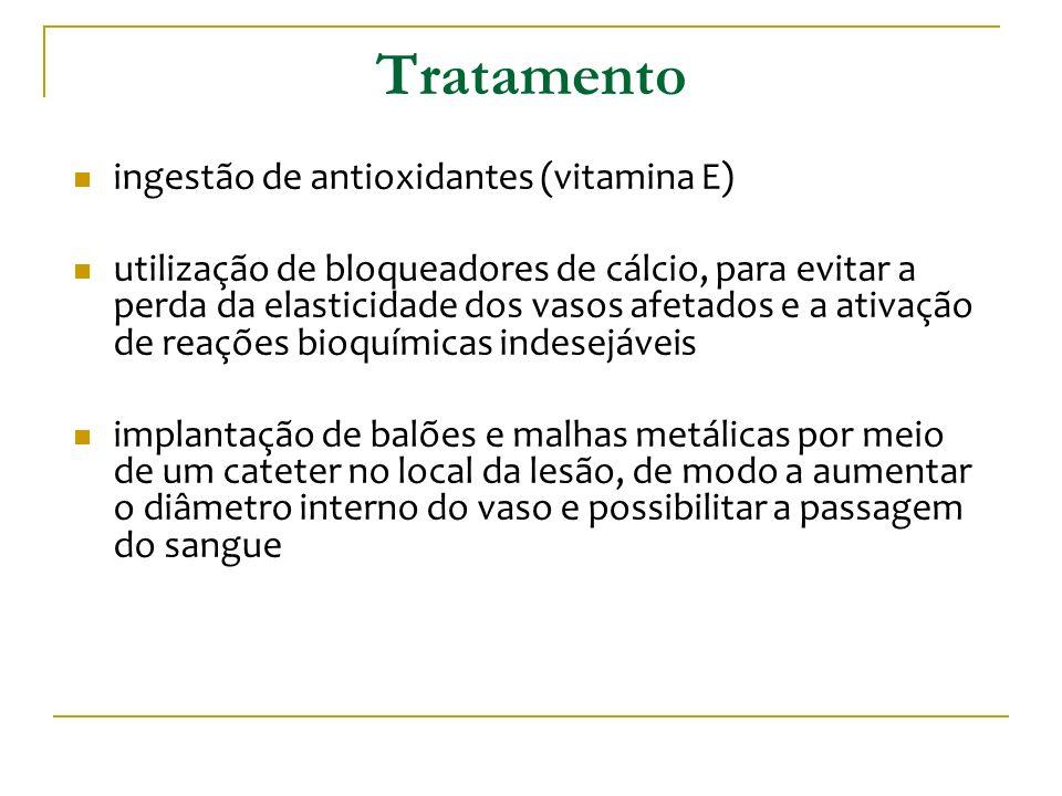 Tratamento ingestão de antioxidantes (vitamina E)