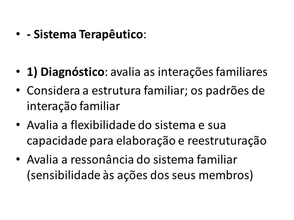 - Sistema Terapêutico: