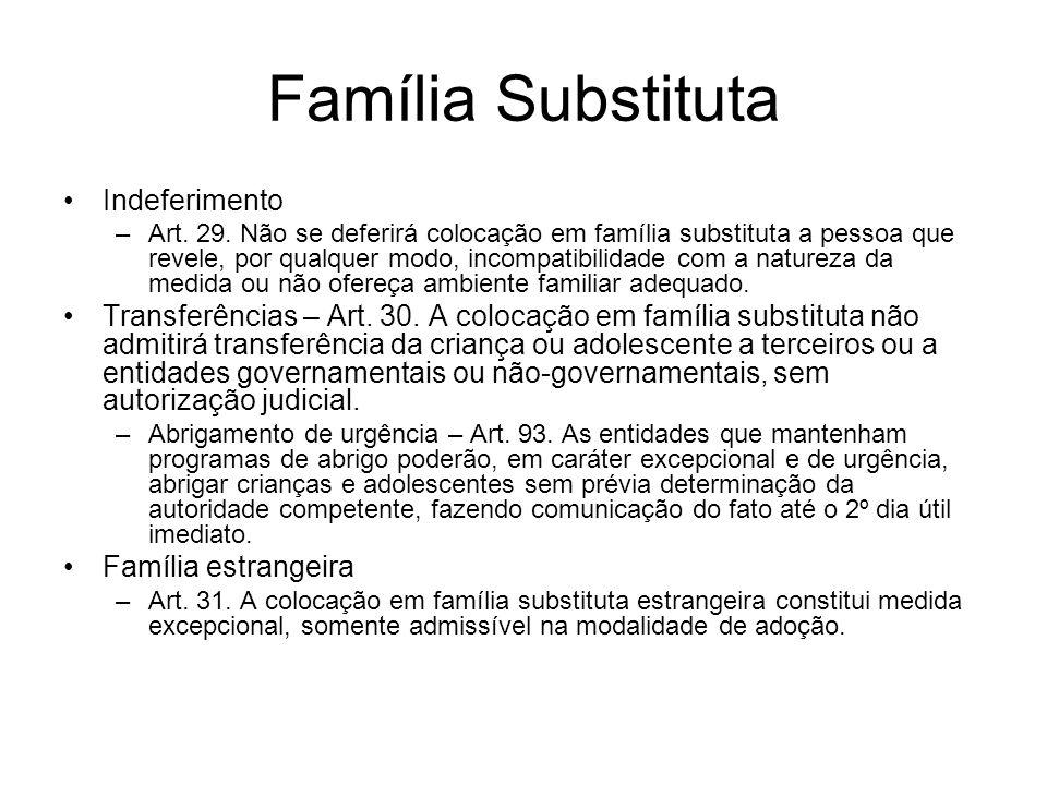 Família Substituta Indeferimento
