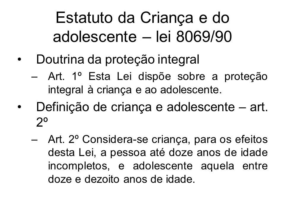 Estatuto da Criança e do adolescente – lei 8069/90