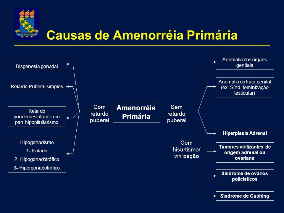 Causas de Amenorréia Primária