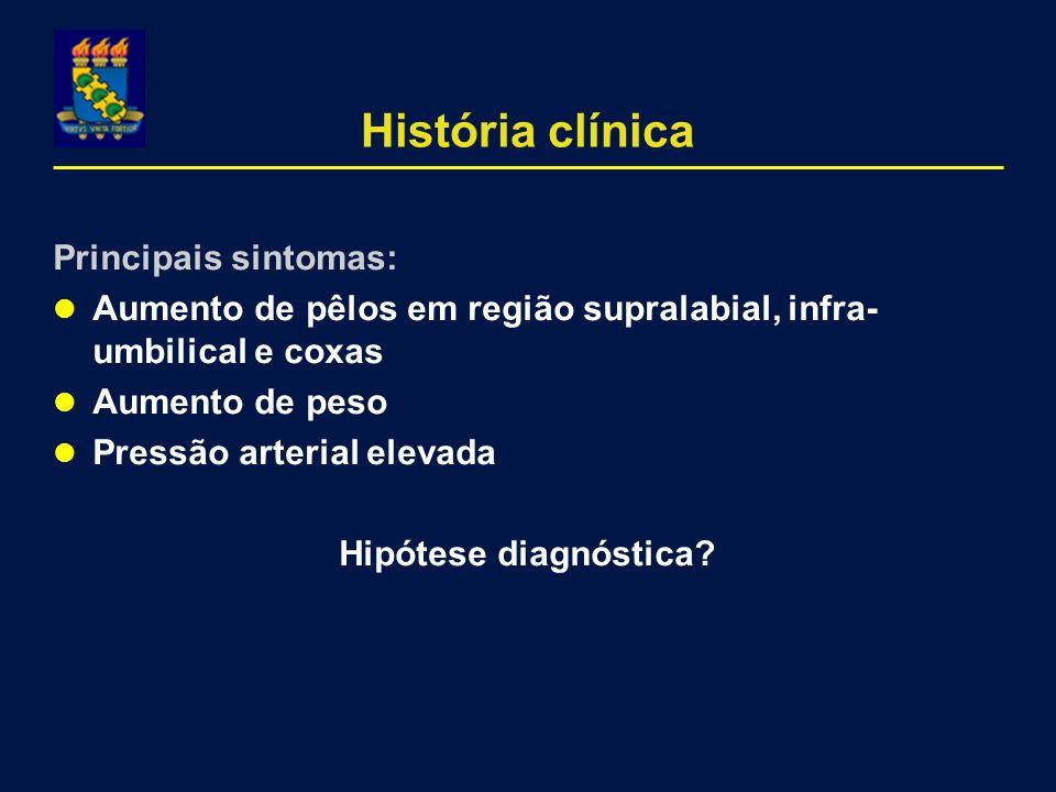 História clínica Principais sintomas: