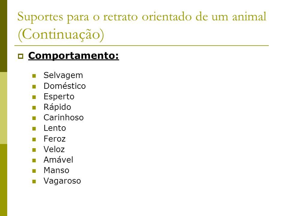 Suportes para o retrato orientado de um animal (Continuação)