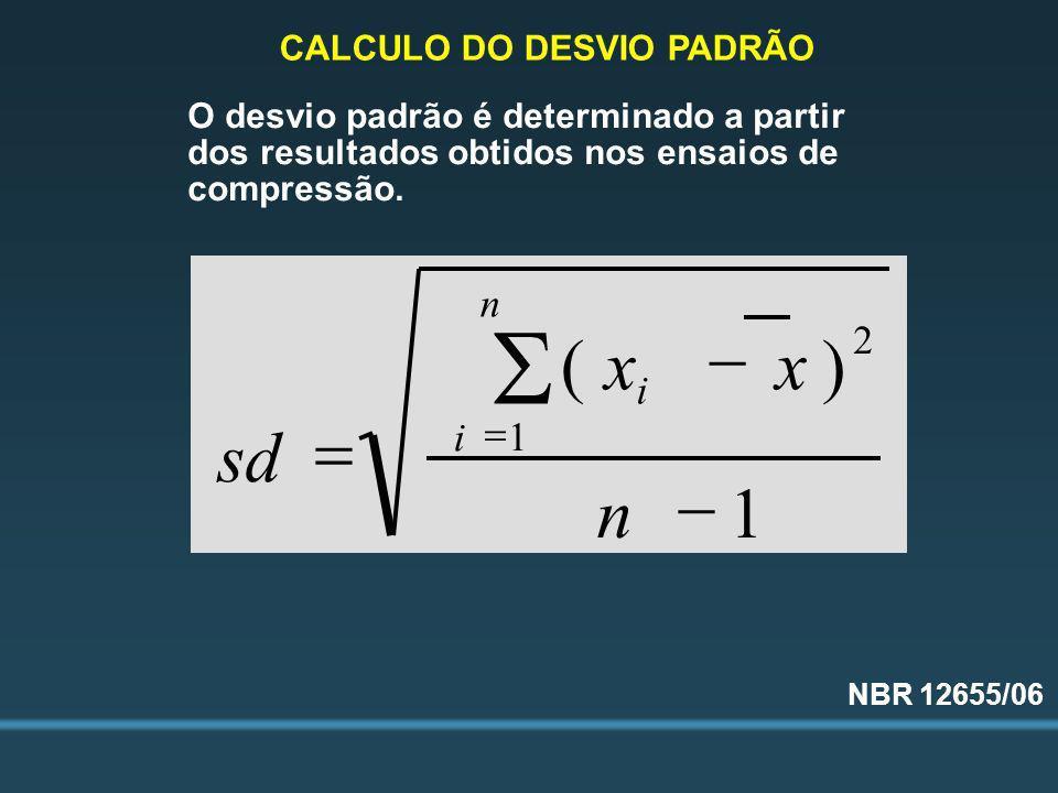 CALCULO DO DESVIO PADRÃO