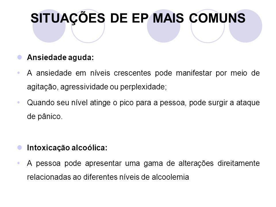 SITUAÇÕES DE EP MAIS COMUNS