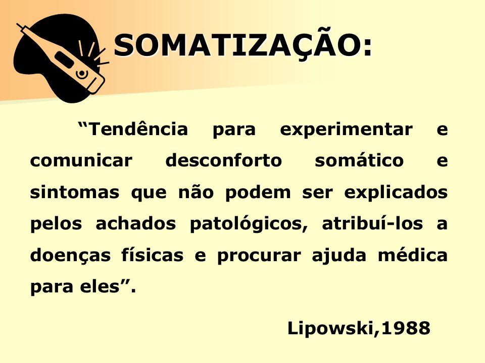 SOMATIZAÇÃO: