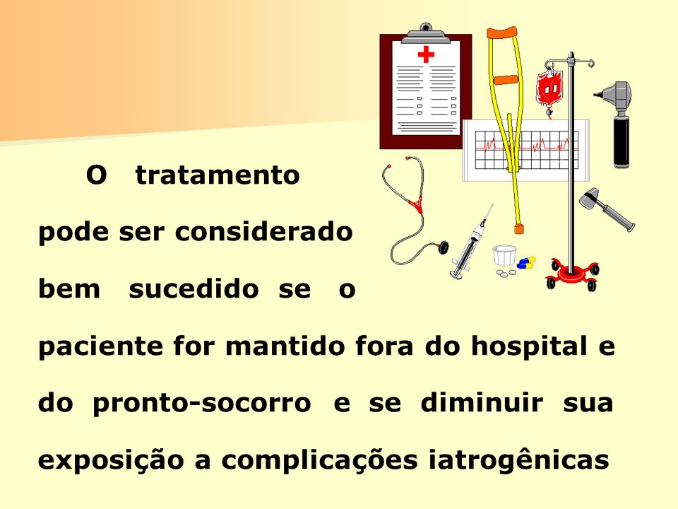 paciente for mantido fora do hospital e