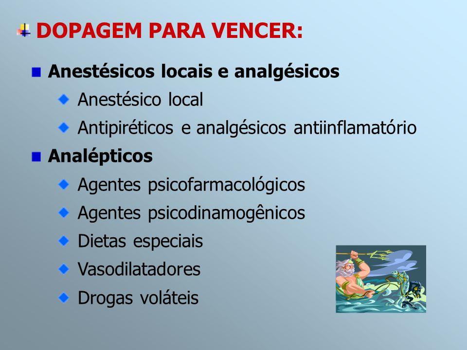 DOPAGEM PARA VENCER: Anestésicos locais e analgésicos Anestésico local