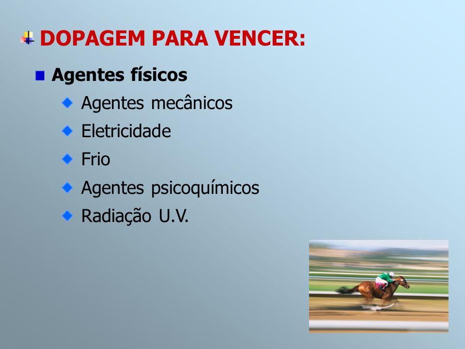 DOPAGEM PARA VENCER: Agentes físicos Agentes mecânicos Eletricidade