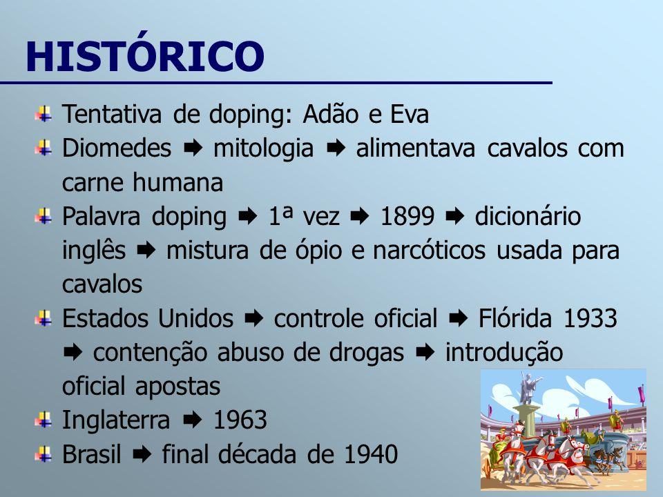 HISTÓRICO Tentativa de doping: Adão e Eva