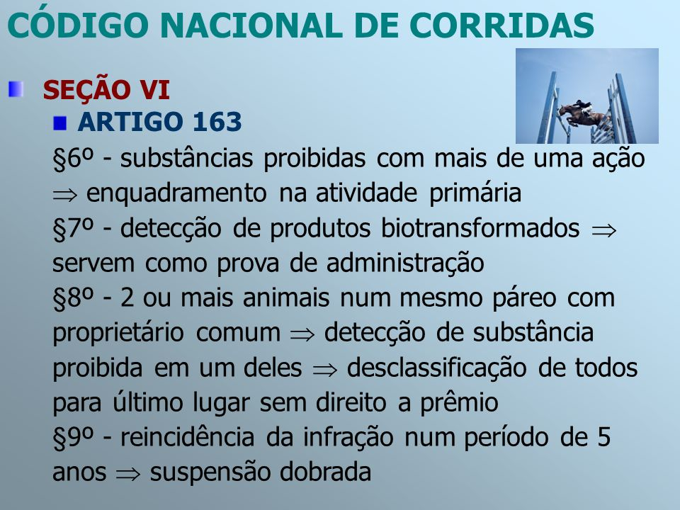 CÓDIGO NACIONAL DE CORRIDAS